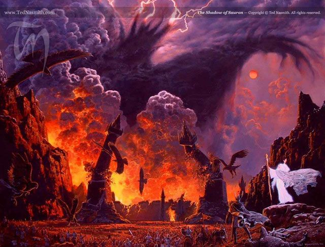 """The Shadow of Sauron"" by Ted Nasmith"