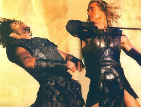 Hector and Achilles in Troy