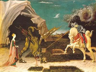 St. George rescues the maiden