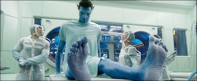 Jake examines his Avatar toes