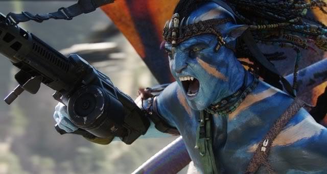 Jake as Na'vi war leader