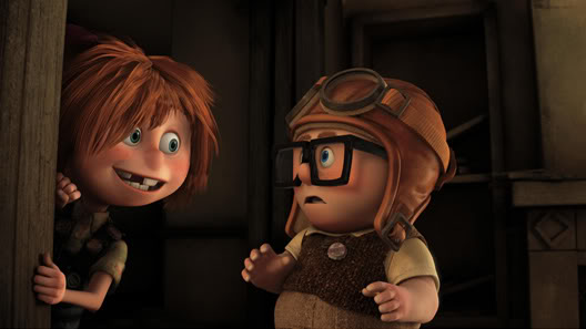 Young Ellie and Carl in UP