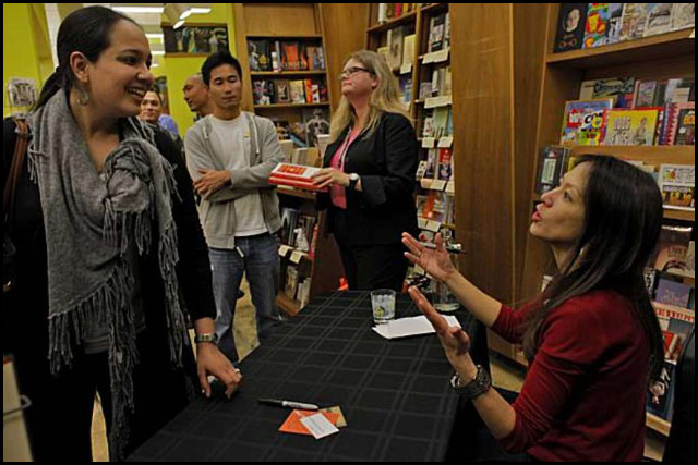 Amy Chua at a book signing.