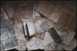 Paper maps.